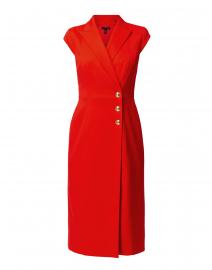 Dhana Ruby Red Stretch Wool Dress