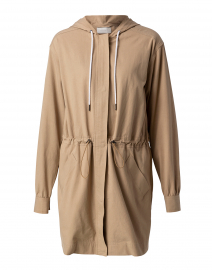 Prato Beige Hooded Jacket
