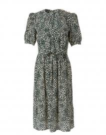 Sadie Green and Ivory Heart Print Silk Dress
