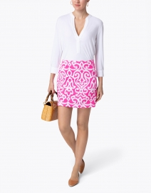 Gretchen Scott - Pink and White Printed Skort