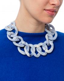 Pono by Joan Goodman - Ana Pale Blue Resin Link Necklace