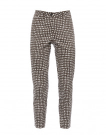 River Taupe Square Spot Printed Stretch Cotton Pant