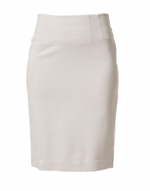 Logan Silver Knit Pull-on Skirt