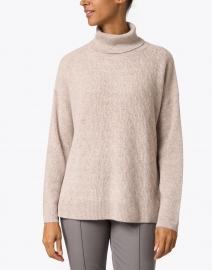 Repeat Cashmere - Multibeige Wool and Cashmere Cable Sweater