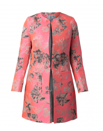 Alice Bright Pink and Gold Collarless Jacket