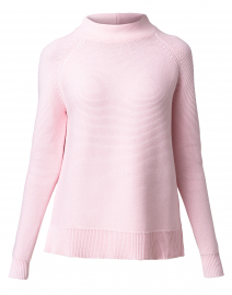 Pale Pink Garter Stitch Cotton Sweater