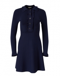 Victoria Navy Fit and Flare Knit Dress