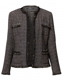 Street Black and Gold Lurex Tweed Jacket