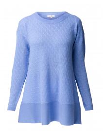 Cortland Park - St. Tropez French Blue Cable Knit Cashmere Sweater