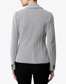 Emporio Armani - Black and White Herringbone Cotton Blazer