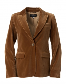 Falena Camel Cotton Velvet Blazer