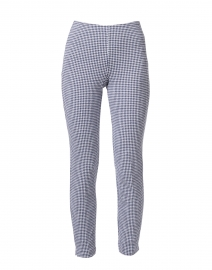 Springfield Navy and White Dotted Check Pull On Pant