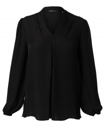 Bella Black Silk Georgette Blouse