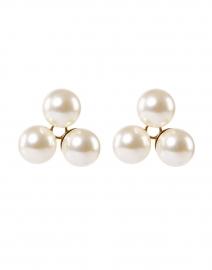 Polly Three Pearl Stud Earrings
