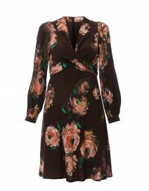 Brown Floral Printed Dress