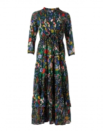 Bazaar Black Floral Cotton Voile Maxi Dress