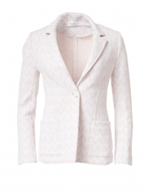 Eleonora Pink and White Chevron Cotton Knit Blazer