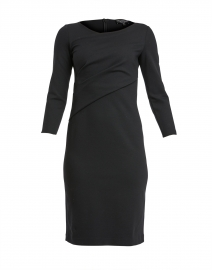 Black Ruched Jersey Dress