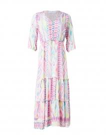Carrie Sherbert Ikat Printed Midi Dress