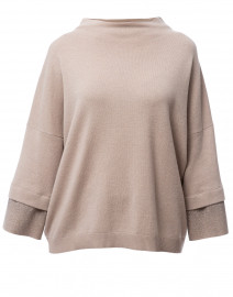 Hazelnut Brown Wool Silk Sweater