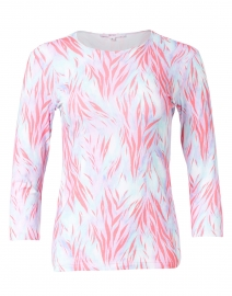 Coral Wispy Tiger Print Cotton Jersey Tee