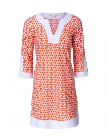 Holly Orange Chain Link Print Dress