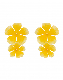 Clio Buttercup Yellow Flower Earring