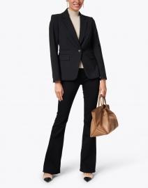 Veronica Beard - Beverly Onyx Essential High Rise Flare Stretch Denim Jean