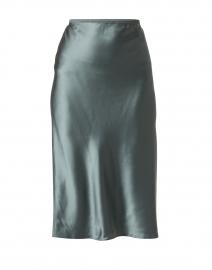 Isaak Deep Green Silk Satin Skirt