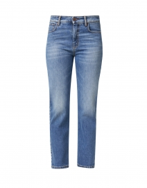 Jardin Blue Stretch Denim Straight Leg Jeans