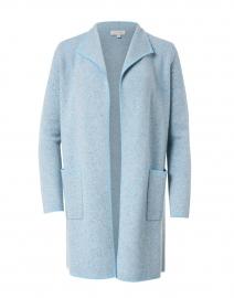 Blue and Grey Cashmere Jacquard Cardigan