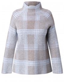 Blue Plaid Cashmere Sweater