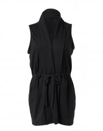 Black Pima Cotton Vest