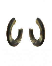 Gia Gold and Brown Resin Hoop Earrings