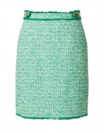 Nicola Green and White Tweed Skirt