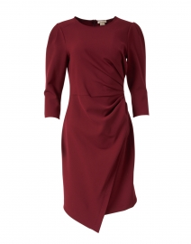Ralph Garnet Red Stretch Crepe Dress