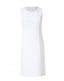 White Stretch Cotton Jacquard Dress