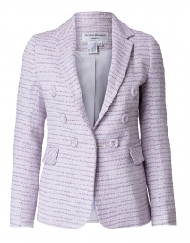 Lilac and White Lurex Tweed Blazer