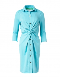 Turquoise Twist Front Dress