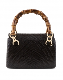 Laila Black Straw Top Handle Bag