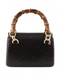 Laila Black Straw Top Handle Bag