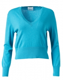 Tropical Blue Cotton Cashmere Sweater