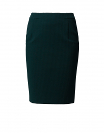 Vaxine Green Jersey Pencil Skirt