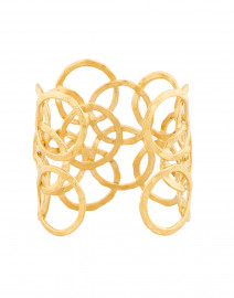 Olympie Gold Circular Link Cuff