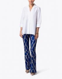 Hinson Wu - Betty White Button Down Stretch Cotton Shirt