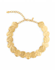 Satin Gold Disc Necklace