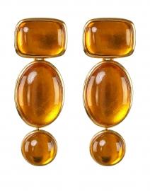 Amber Baroque Geometric Drop Earring