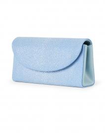 J Markell - Baby Grande Slate Blue Stingray Clutch