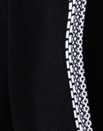 Paule Ka - Black Cropped Cardigan With White Trim