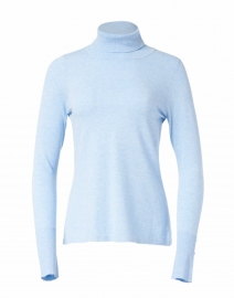 Sky Blue Stretch Turtleneck Sweater